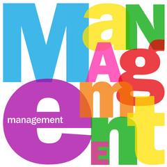 """Mosaïque de Lettres """"MANAGEMENT"""" (équipe personnel entreprise)"""