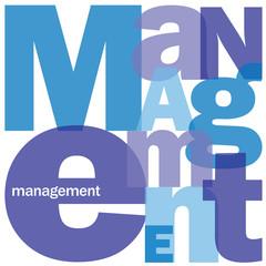 """Mosaïque de Lettres """"MANAGEMENT"""" (gestion ressources humaines)"""