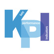 """KPI"" Letter Collage (metrics data key performance indicator)"