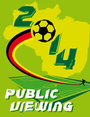 plakat fussball 2014