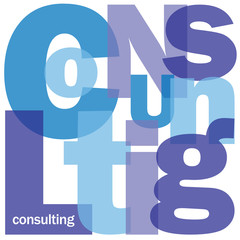 """""""CONSULTING"""" Letter Collage (business strategy ideas creativity)"""