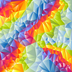 Abstract multicolored vector triangles background