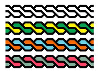 Geometric seamless braids
