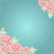 Greeting card. Vector background with roses
