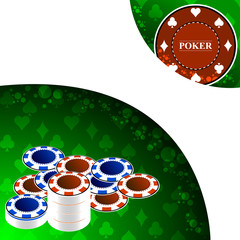 Poker background with gaming elements
