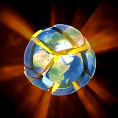 Earth explode.