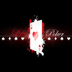 Live Poker background with playing card