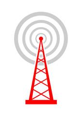 Transmitter icon on white background