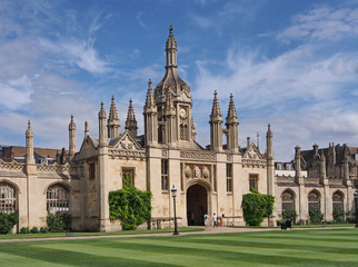 King's College, Cambridge University, England, Gothic Gatehouse
