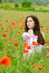 ukrainian lady  in field