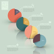 abstract pie chart infographics