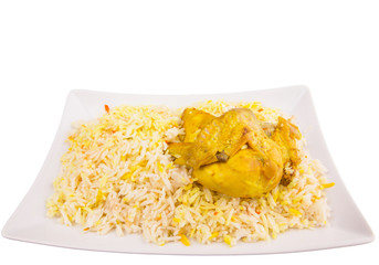 Chicken Kabsa Rice, a popular traditional Middle Eastern cuisine