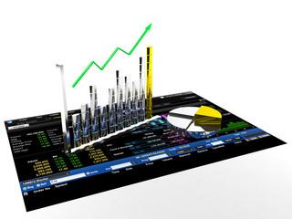 Stock bar chart