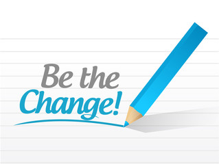 be the change message illustration design