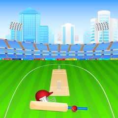 Cricket bat and ball