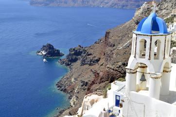 Vistas al mar en Santorini