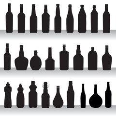 bottles silhouettes collection