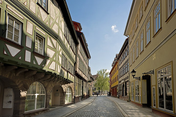 Street with half timbered houses