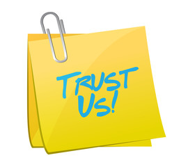 trust us post message illustration design