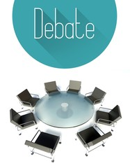 Debate conceptual, workplace for negotiations