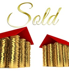 Sold home, houses made ??of coins