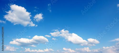 canvas print picture blauer Himmel mit Wolken - Panoramaformat
