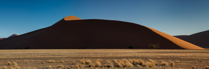 Panorama of Dune 45 in the evening light