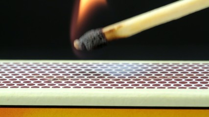 Match ignition , macro HD video