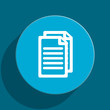 document flat vector icon