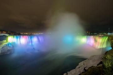 Niagara Falls Light at night