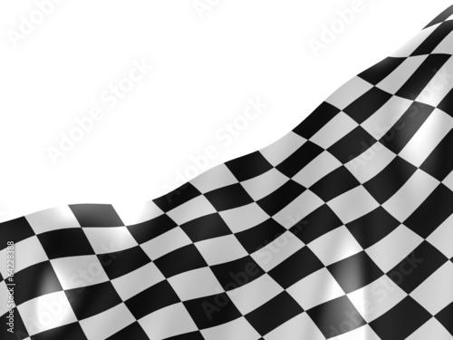 Foto op Plexiglas F1 Checkered flag texture.