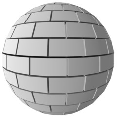 Abstract 3D Brick sphere
