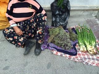 Sokakta Satıcı Kadın