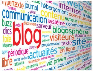 """Nuage de Tags """"BLOG"""" (réseaux sociaux actualités forum médias)"""