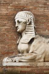 Sphinx statue in Urbino, Italy