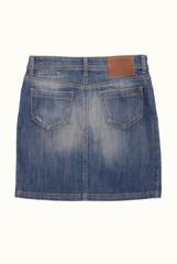 back side of denim skirt