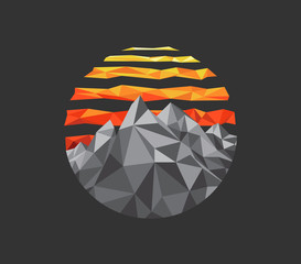 polygonal mountain