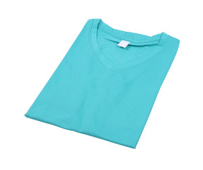 folded t-shirt isolated