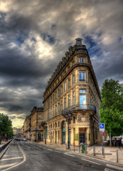 A building in Bordeaux city center - France
