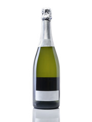 Bottle of champagne - Stock Image