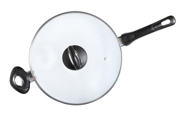 Wok Frying Pan - Stock Image