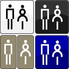 CARTELLO TARGA OMINI WC