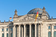 canvas print picture - The Bundestag at Berlin, Germany