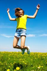Teenager beim Springen
