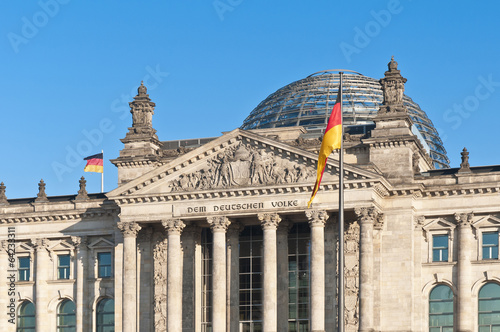canvas print picture The Bundestag at Berlin, Germany