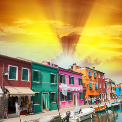 Colourful homes of Burano, Venice - Italy