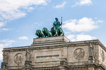 Siegestor, the triumphal arch in Munich, Germany