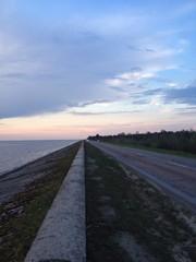 highway and empty seaside