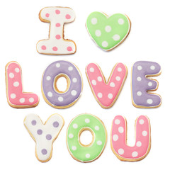 Dotted I LOVE YOU Cookies