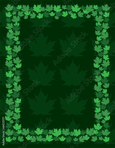 Maple Leaf Frame Border